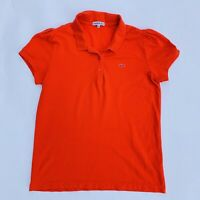 WOMENS LACOSTE FITTED RED POLO SHIRT LARGE 44 UK16