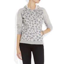 Zoe Karssen All Over Leopard Pullover Hoodie Sweatshirt Size L