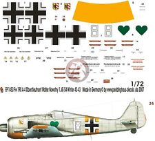 Peddinghaus 1/72 Fw 190 A-4 White 8 Markings Walter Nowotny 1./JG 54 Russia 1453
