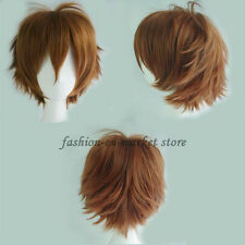Unisex Anime Fashion Short Wig Cosplay Party Straight Hair Cosplay Wig White Red