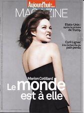 AUJOURD'HUI EN FRANCE MAGAZINE n°5482 18/11/2016  M.Cotillard/ Lignac/ Trump USA