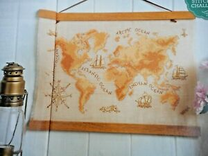 VINTAGE-STYLE WORLD MAP. CROSS STITCH CHART. SELLING FOR CHARITY 🎁