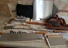 DeliVita Pizza Oven Tools - Peel, Apron, Cutter, Dough Scraper, Cover, Prod Blow