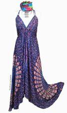 DELICIOUS NEW BLUE MANDALA STARSHINE MAXI DRESS UK SIZE 12 / 14 / 16 SUMMER SUN