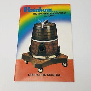Vintage Rexair Rainbow Vacuum Cleaner Owner's Operation Manual Original
