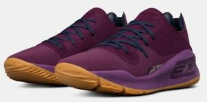 UNDER ARMOUR UA STEPH CURRY 4 LOW SHOE GOLDEN STATE WARRIORS SNEAKERS GRAPE HTF