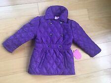 New Girls Beverly Hills Princess Purple Jacket Coat 18 Month Fleece Lined