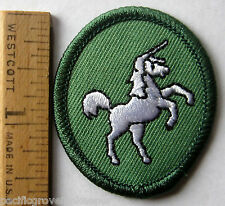Retired Oval 1989-2011 Girl Scout UNICORN TROOP CREST Horse Badge Patch NEW