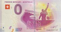 BILLET 0  EURO FREDDIE MERCURY MONTREUX SUISSE 2019  NUMERO 162