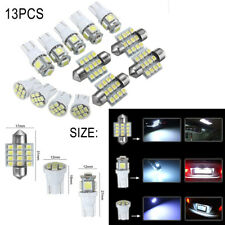 13Pcs Car White LED Lights Kit T10 & 31mm Festoon Map Dome License Plate Lamps