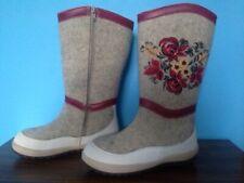 New Ethnic Womens Winter 100% Felt sheepskin wool boots valenki, sz.6-6.5