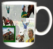 Horse RACING LUCKY TAZZA IN CERAMICA. limitata edition.top REGALO McCoy, PIGGOTT, DETTORI