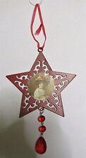 Décoration de sapin forme étoile à suspendre en métal  (NO63)