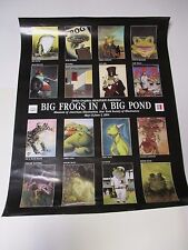 Big Frogs In A Big Pond Poster Promotional Only 28X22 Dellas Graphics Frogfolio