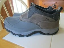 WOMENS 8.5 M L.L. BEAN TEK2.5 STORM CHASER SLIP ON RUBBER & LEATHER DUCK BOOTS