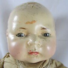 Composition Cloth Baby Doll By Lo Type Domed Head for Restoration Unbranded
