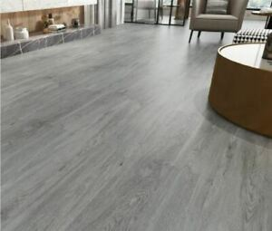 Self Adhesive PVC Floor Planks Tiles Washed Grey Light Grey 5 m² / Pack Easy Fit