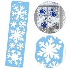 Décorations de fenêtre de Noël bleus pour la maison