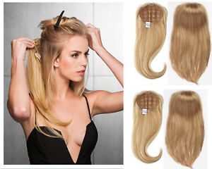 100% Real Remy human hair Machine Weft Handmade Half wig for 3/4 head Easy Wear