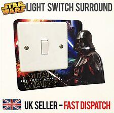 Star Wars Light Switch Surround Sticker Cover Vinyl Darth Vader Kids Room Jedi