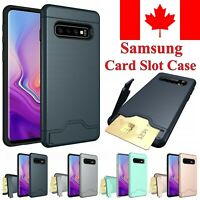 For Samsung Galaxy S20 Ultra S10 S9 S8 Plus A8 A5 Case KickStand Card Slot Cover
