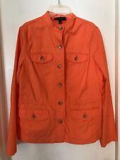 TALBOTS Orange Jacket Blazer Coat Women's Size S