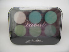 Laval Eyeshadows Palette Green Collection 6 Colours New