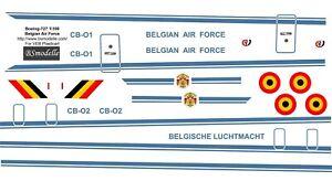 Boeing 727-100 Belgian Air Force decal 1144 for VEB Plasticart
