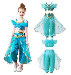 Girls Aladdin Princess Jasmine Fancy Dress Costume Cosplay (Kids)