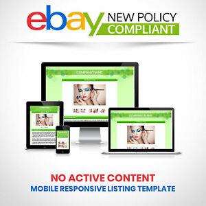 Custom eBay Listing Template HTML Professional Mobile Responsive Design - HTTPS