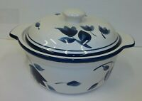 Home Brand Blue White Floral Lidded Casserole
