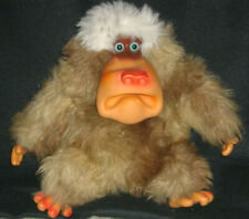 Vintage 70's Gund Gorilla Stuffed Plush w/ Rubber Face Monkey Baboon 1977