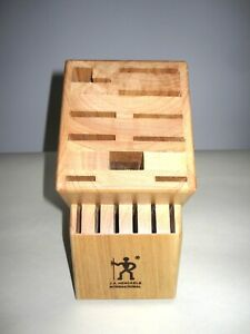 JA Henckels International Knife Block 16 Slot Wooden Knife Holder ~ Light Oak.