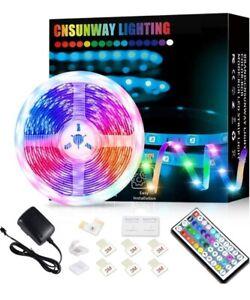Ruban LED Bande Lumineuse Multicolore Flexible 5m 6m 10m 12 m Bandeau RGB