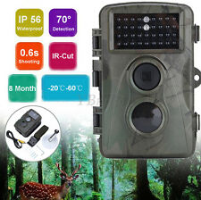 Waterproof Hunting Camera Ir 12Mp 1080P Hd Infrared Trail Night Vision 34Ps Leds