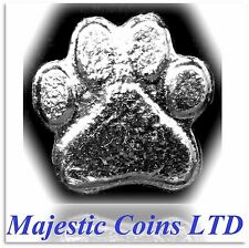 1 oz .999 Fine Silver Cast - Yeager's Poured Bar Bear Paw