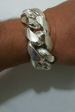 "Miami Cuban Link Bracelet Sterling Silver  9"" 24 MM 300 Grams"