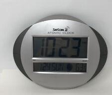 SKyScan Atomic Clock Indoor Calendar Temperature Moon Phase 86730