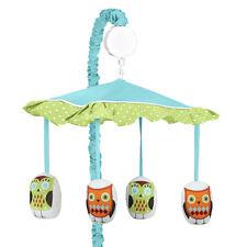 Sweet Jojo Designs Musical Mobile for Turquoise Hooty Owl Baby Crib Bedding Set