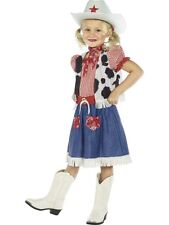 GIRLS COWGIRL KIDS DAISY DUKE FANCY DRESS COSTUME CHILDRENS COW OUTFIT WILD WEST