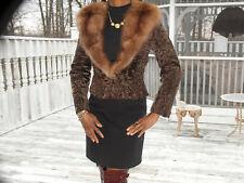 Designer Birger Christensen Swakara & Russian Sable Fur Jacket XS-S 0-4