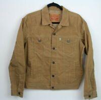Levi's Sample Women's Size M Brown Windbreaker Lightweight Trucker Jacket Button