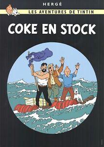 HERGE Les Aventures de Tintin: Coke en Stock 27.5 x 19.5 Poster