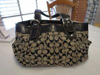 COACH Signature XL black Jacquard Business Tote Handbag F13743 XL purse laptop