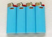 4 New Baby Blue Color Full Size BIC Lighters