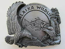 Alaska wildlife belt buckle rare limited edition