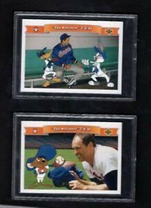 1991 Lot 2 Upper Deck Baseball Looney Tunes Comic Ball 2 NOLAN RYAN Promo Cards