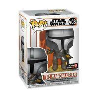 Funko POP! Star Wars The Mandalorian Flying with Blaster Gamestop
