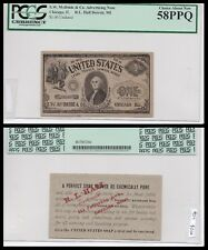 Chicago and Detroit Ad note, Unlisted! Very unique, $1 Read the note PCGS 58PPQ