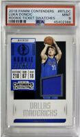 POP 17 RC Luka Doncic 2018-19 Contenders Rookie Patch BLUE Swatch Only 13 PSA 10